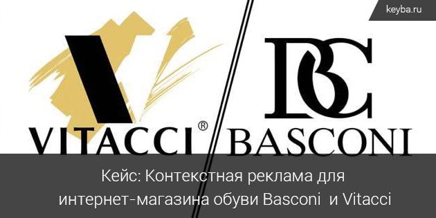 Контекстная реклама для интернет-магазина обуви Basconi и Vitacci